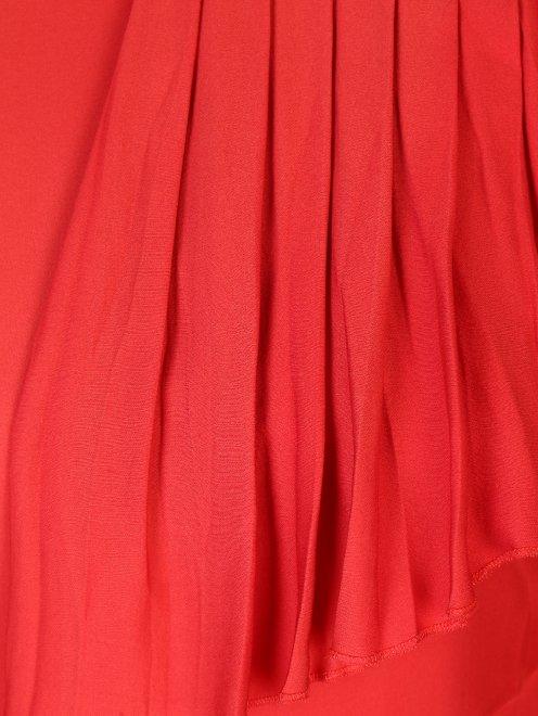 Платье шелковое, с воланами - Деталь