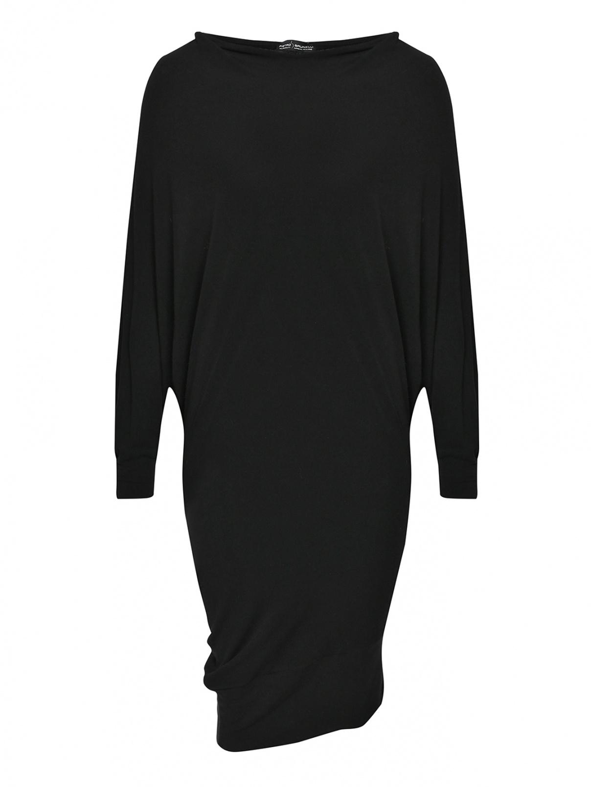 Трикотажное платье асимметричного кроя Pietro Brunelli  –  Общий вид