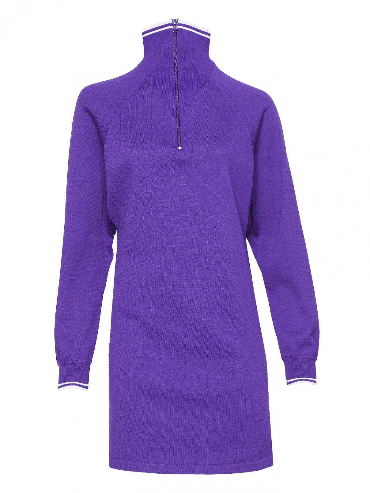 Платье-мини из трикотажа с контрастной отделкой Isabel Marant  –  Общий вид