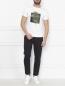 Спортивные брюки из хлопка с лампасами Emporio Armani  –  МодельОбщийВид