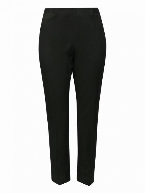Укороченные брюки из хлопка зауженного кроя - Общий вид