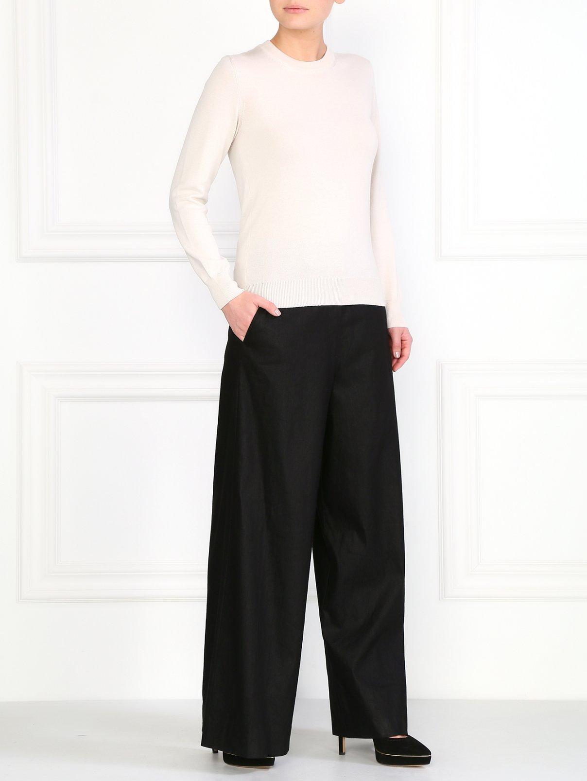 Льняные широкие брюки Maison Martin Margiela  –  Модель Общий вид