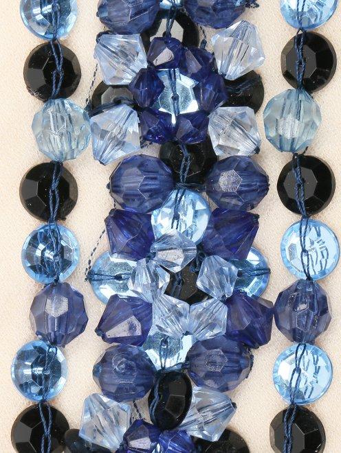 Воротник из шерсти, декорированный кристаллами - Деталь1