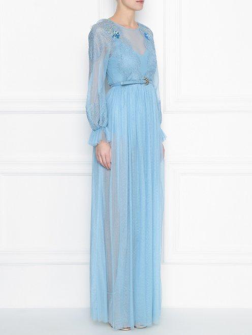 Платье-макси с кружевным узором - МодельВерхНиз