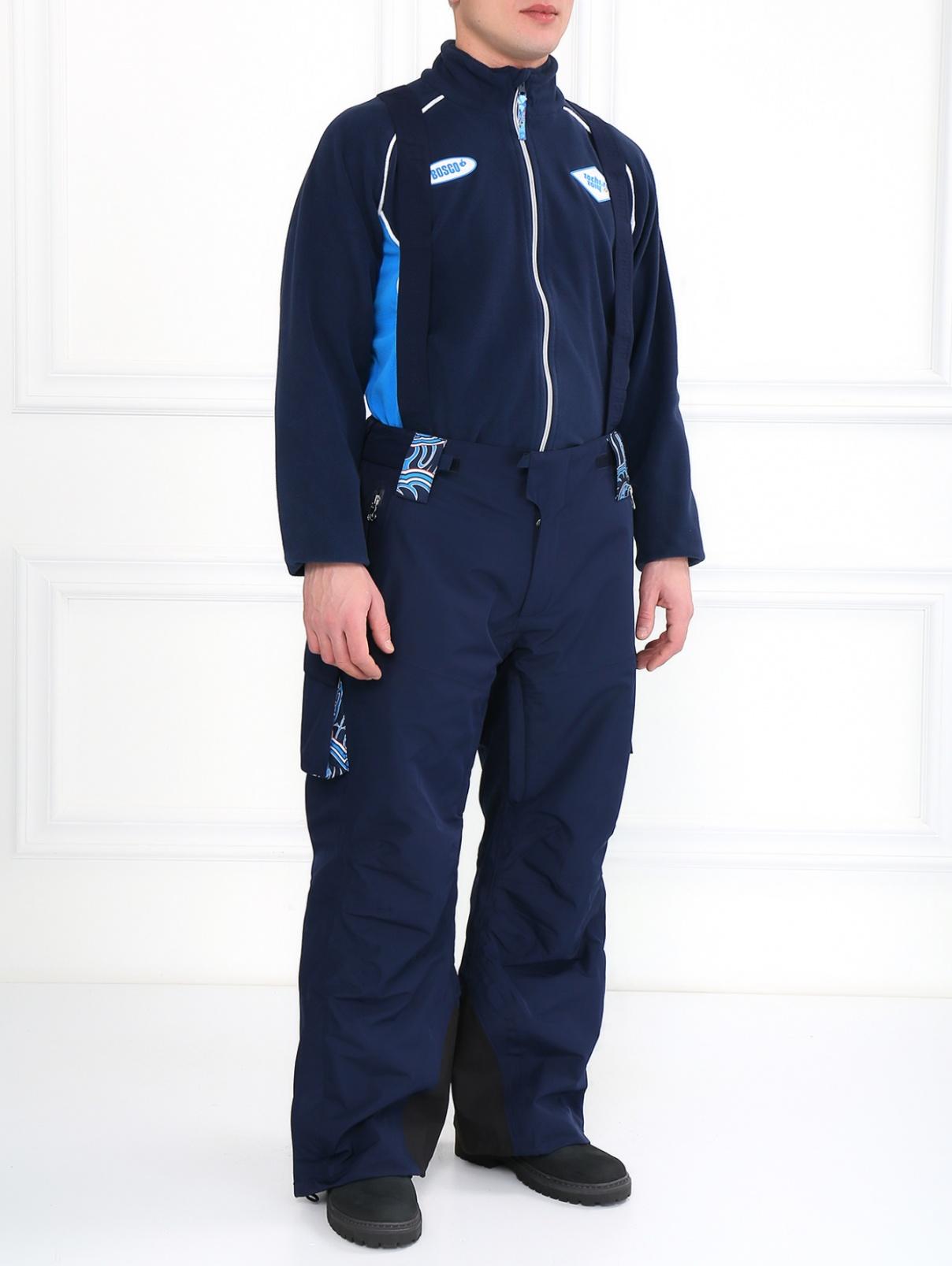 Брюки горнолыжные с накладными карманами Sochi 2014  –  Модель Общий вид  – Цвет:  Синий