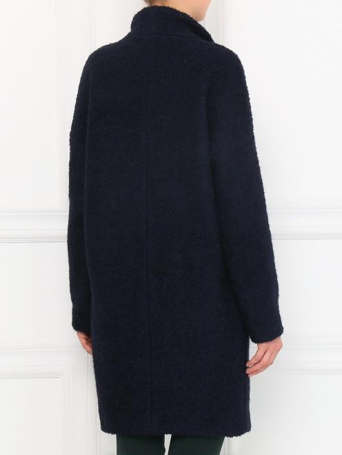 Пальто свободного кроя с накладными карманами - Модель Верх-Низ1