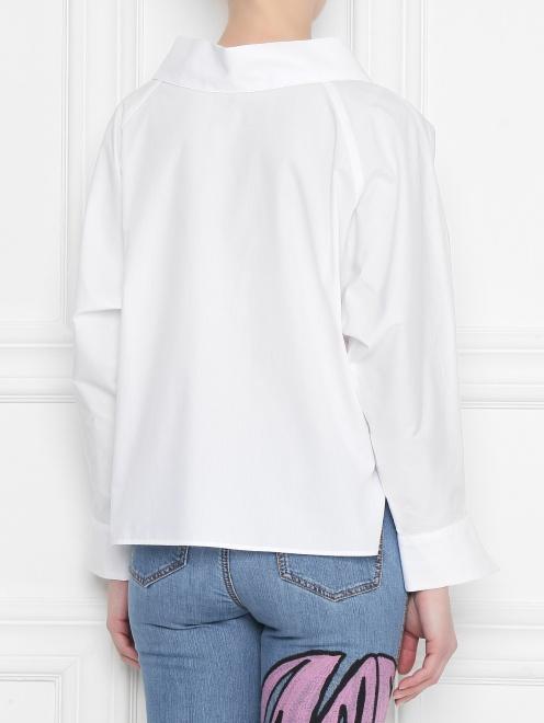 Блуза из хлопка, свободного кроя - МодельВерхНиз1