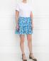 Юбка-мини из шелка с цветочным узором Tara Jarmon  –  Модель Общий вид