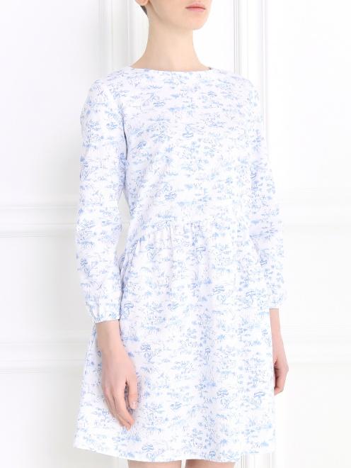 Платье-мини с длинным рукавом - Модель Верх-Низ