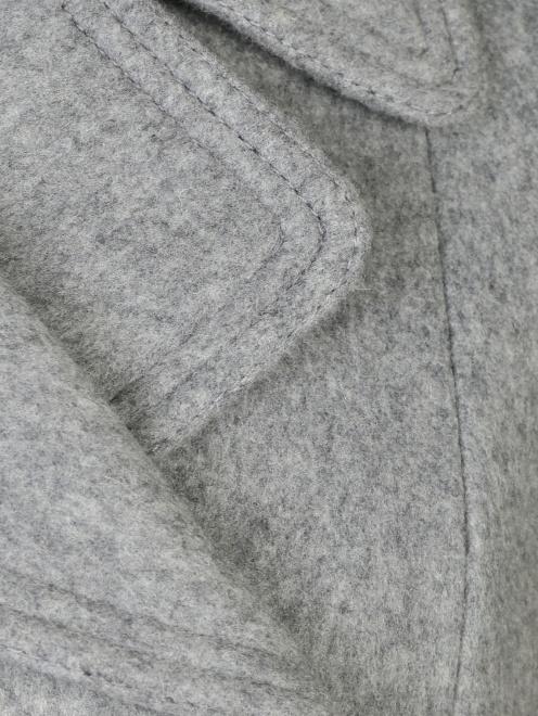 Пальто двубортное, из шерсти - Деталь1