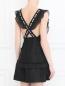 Платье-мини из льна с узором Stevie May  –  МодельВерхНиз1