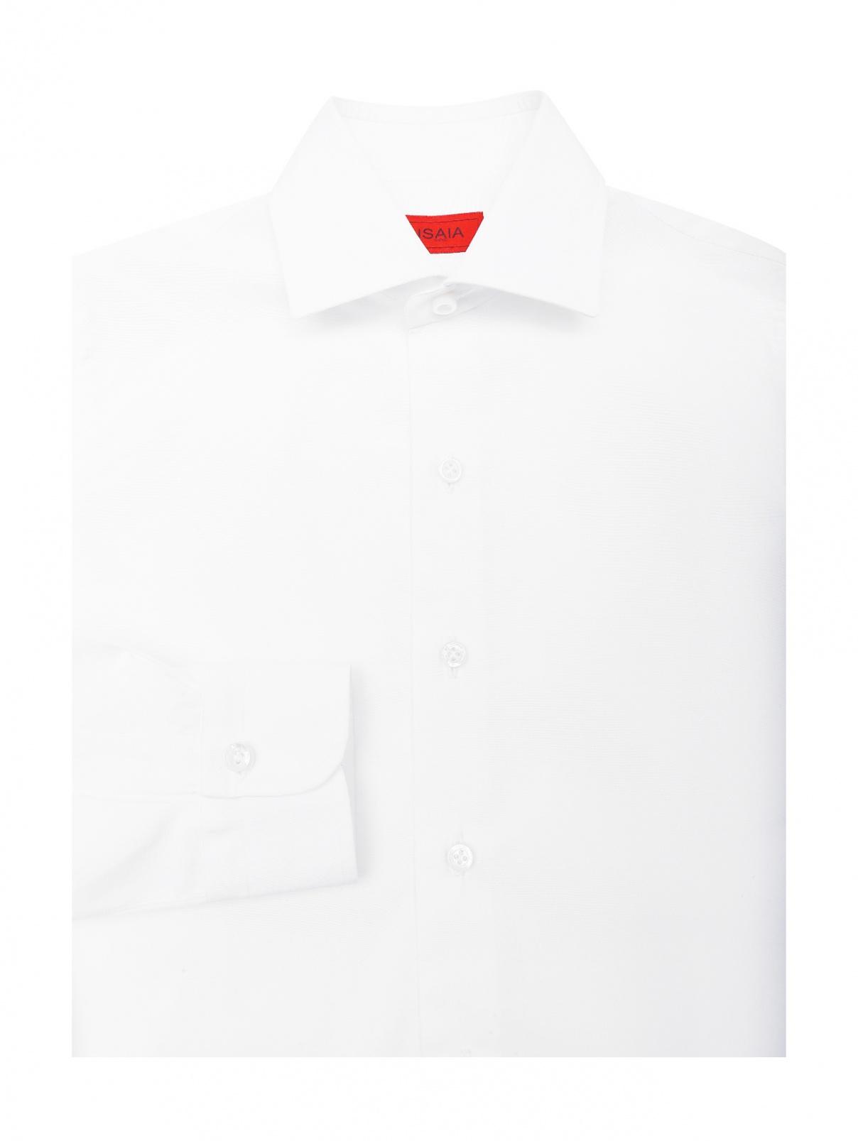 Рубашка из хлопка Isaia  –  Общий вид  – Цвет:  Белый
