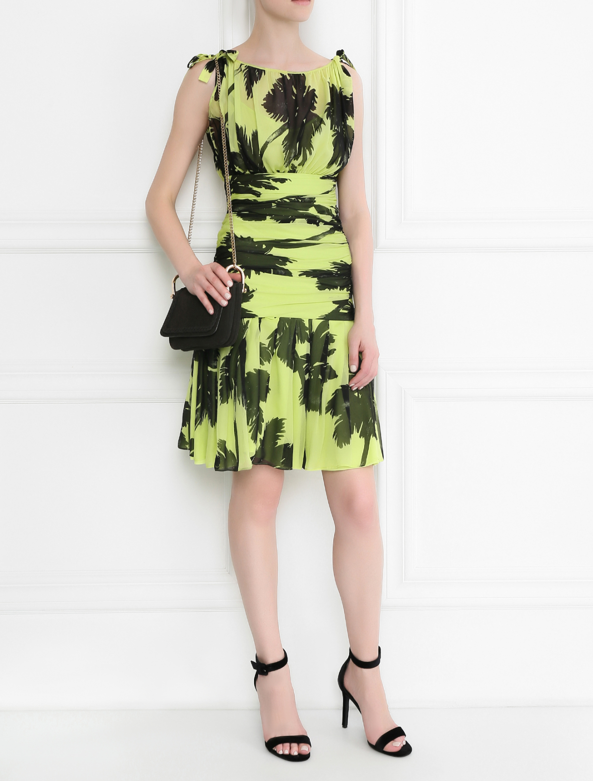 Платье  из шелка с запахом Moschino Cheap&Chic  –  Модель Общий вид