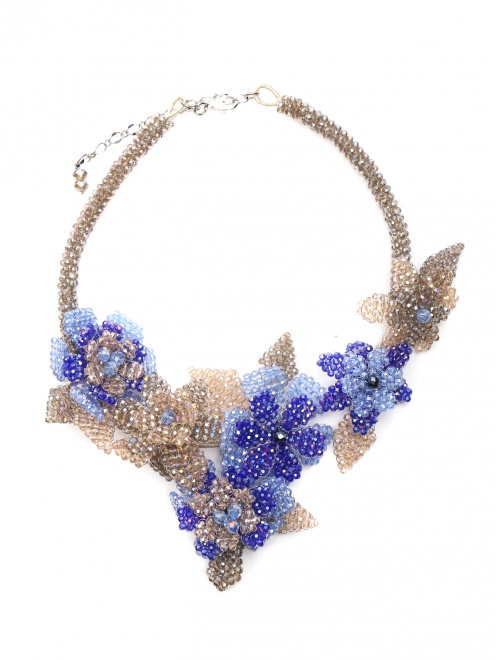 Колье из кристаллов в форме цветов - Общий вид