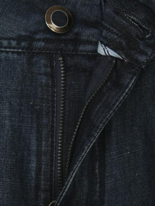 Брюки джинсового кроя из хлопка и льна - Деталь1