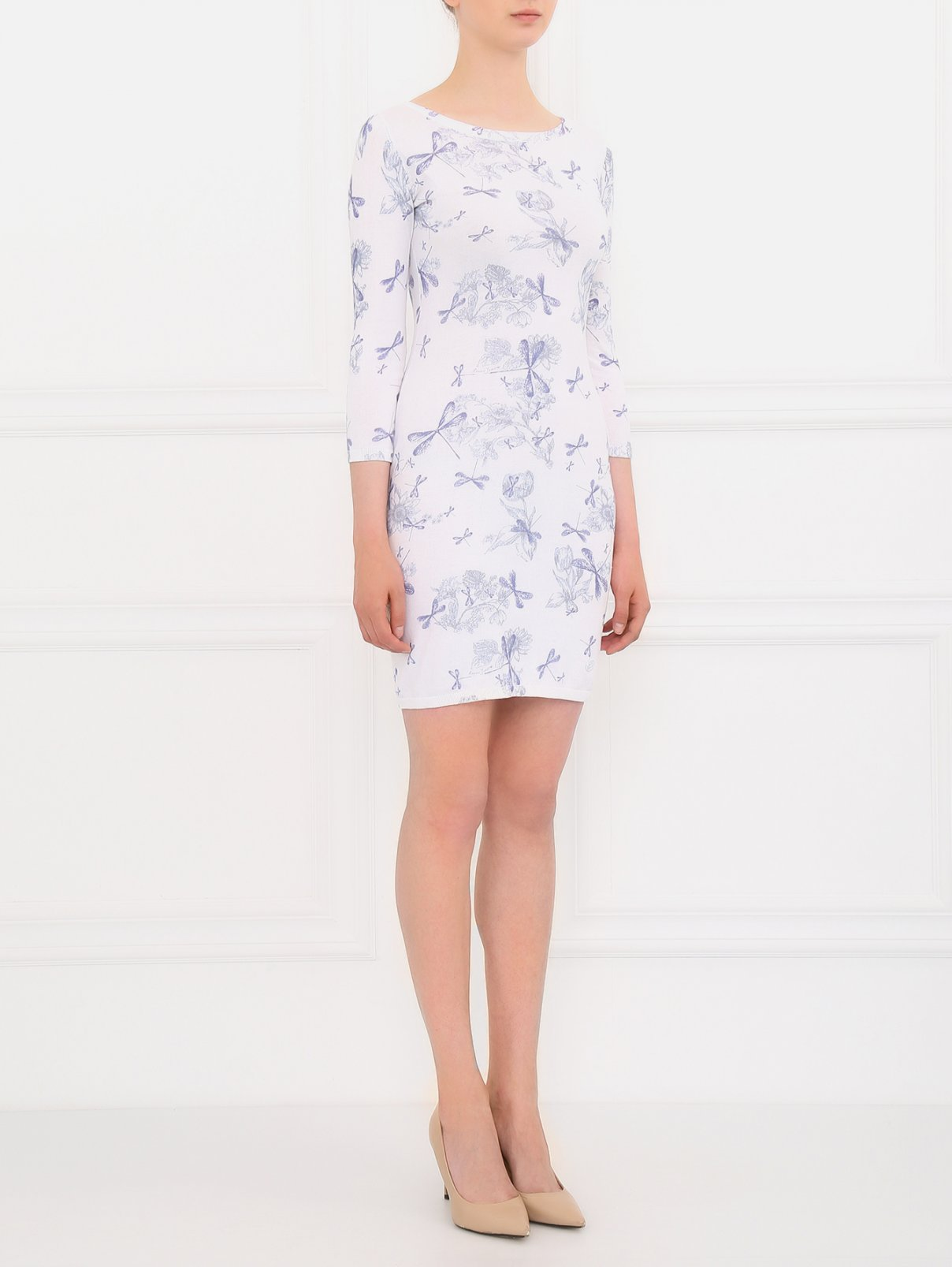 Платье-мини мелкой вязки Armani Jeans  –  Модель Общий вид