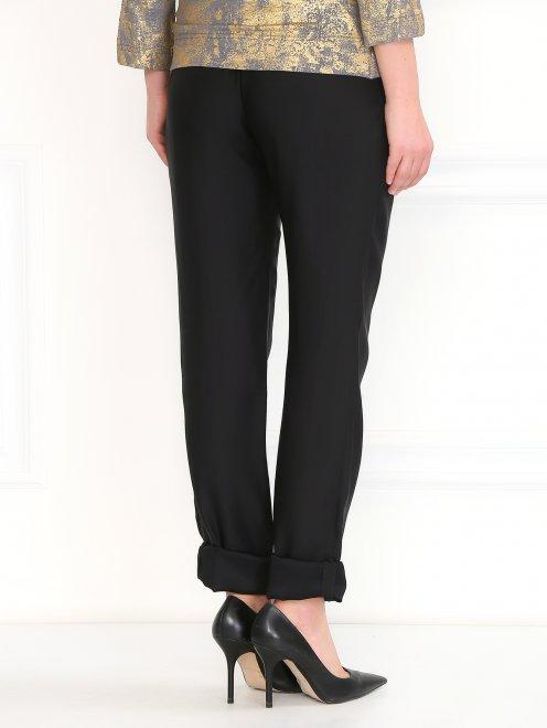 Легкие брюки из вискозы и шелка - Модель Верх-Низ1