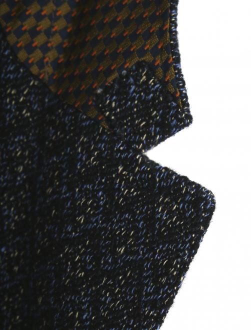 Пиджак однобортный из льна с узором  - Деталь1