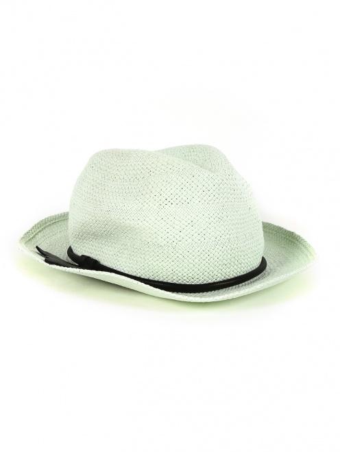 Шляпа из соломы с отделкой из кожи - Общий вид