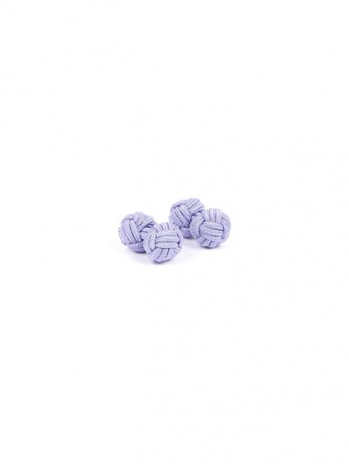 Запонки из текстиля в виде узелков - Общий вид