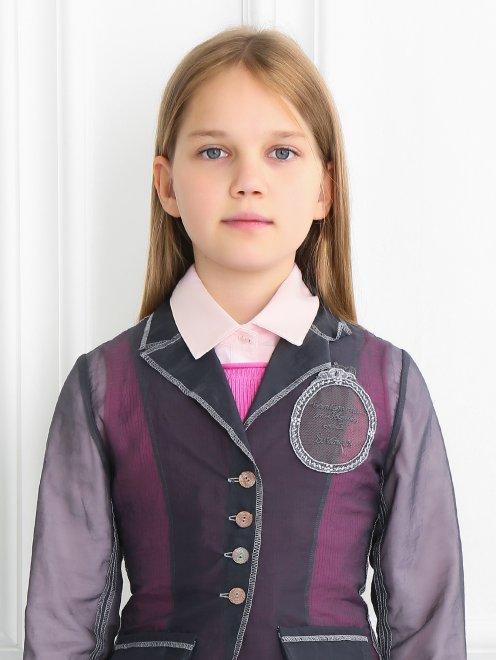 Жакет с вышивкой и карманами - Модель Общий вид1