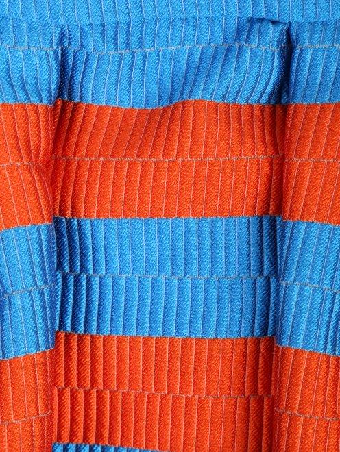 Юбка в полоску из ткани с добавлением шелка - Деталь1