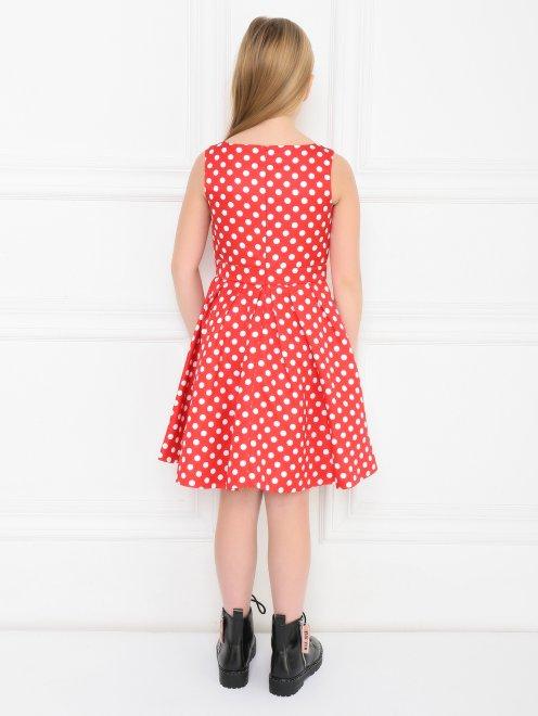 Платье приталенное в горошек - МодельВерхНиз1