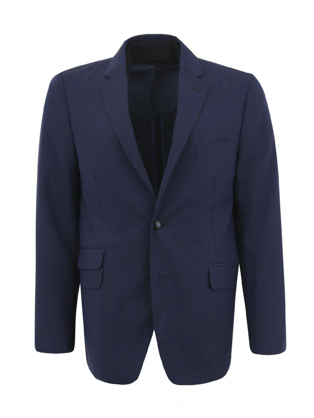 Пиджак из шерсти с подкладкой на молнии Corneliani ID  –  Общий вид