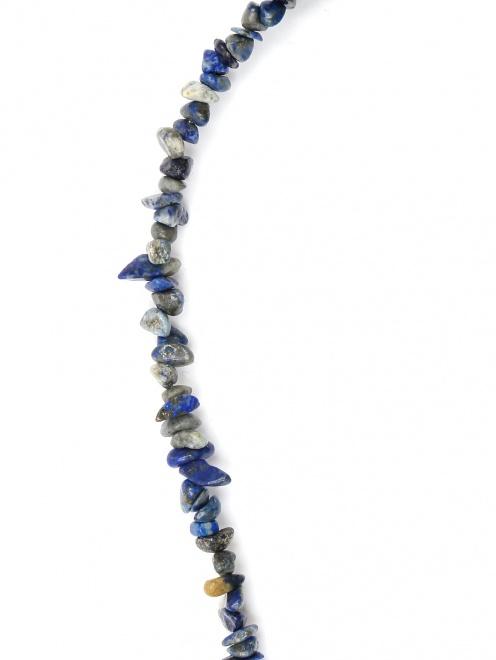 Ожерелье из кварца с металлической подвеской - Деталь1