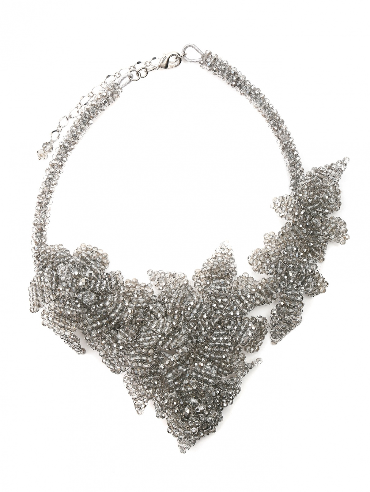 Колье из кристаллов в форме цветов Marina Rinaldi  –  Общий вид  – Цвет:  Серый