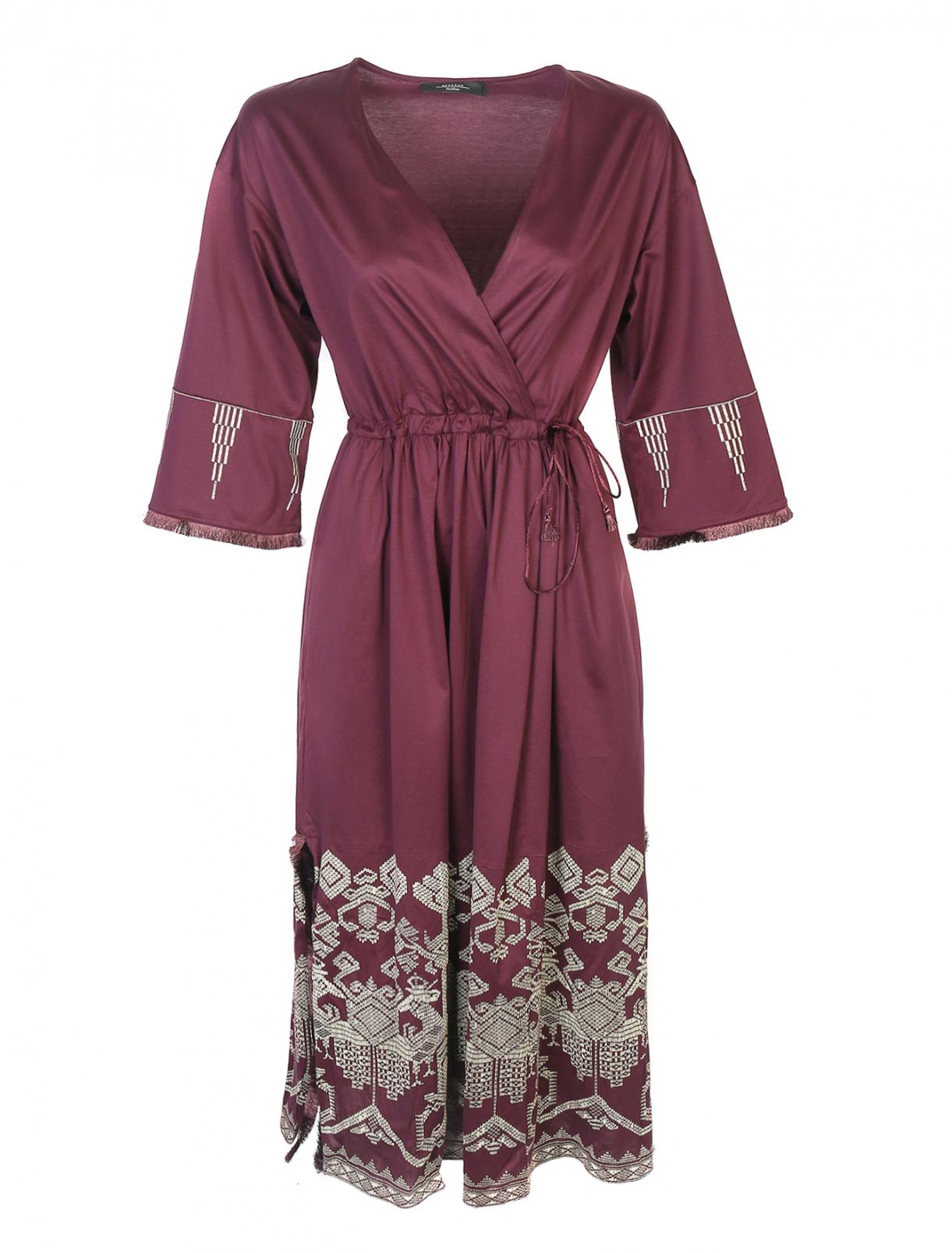 Платье из хлопка с вышивкой Weekend Max Mara  –  Общий вид