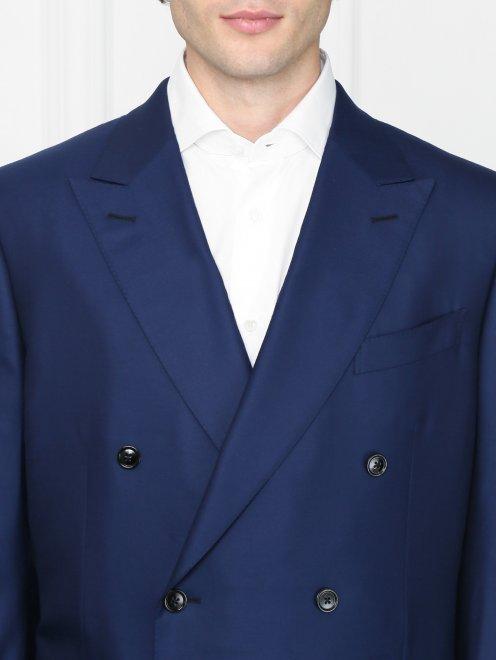Двубортный пиджак из шерсти - МодельОбщийВид1