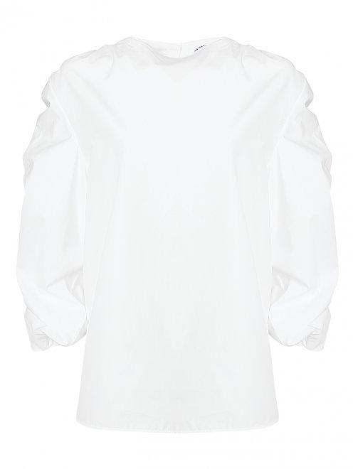 Блуза хлопковая со сборкой  - Общий вид