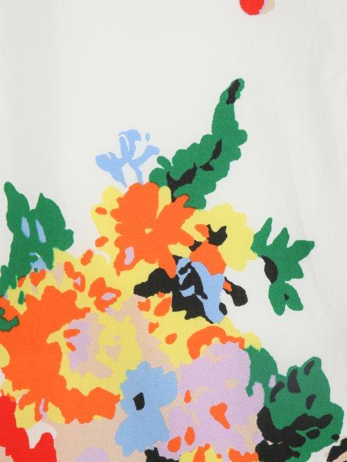Юбка из хлопка с цветочным узором - Деталь1