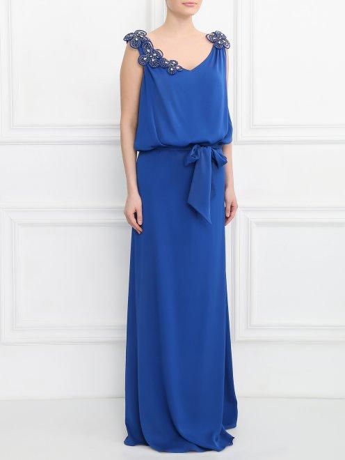 Платье-макси из шелка  - Модель Верх-Низ