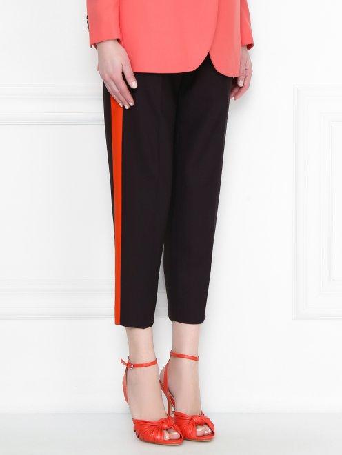 Укороченные брюки с лампасами - МодельВерхНиз
