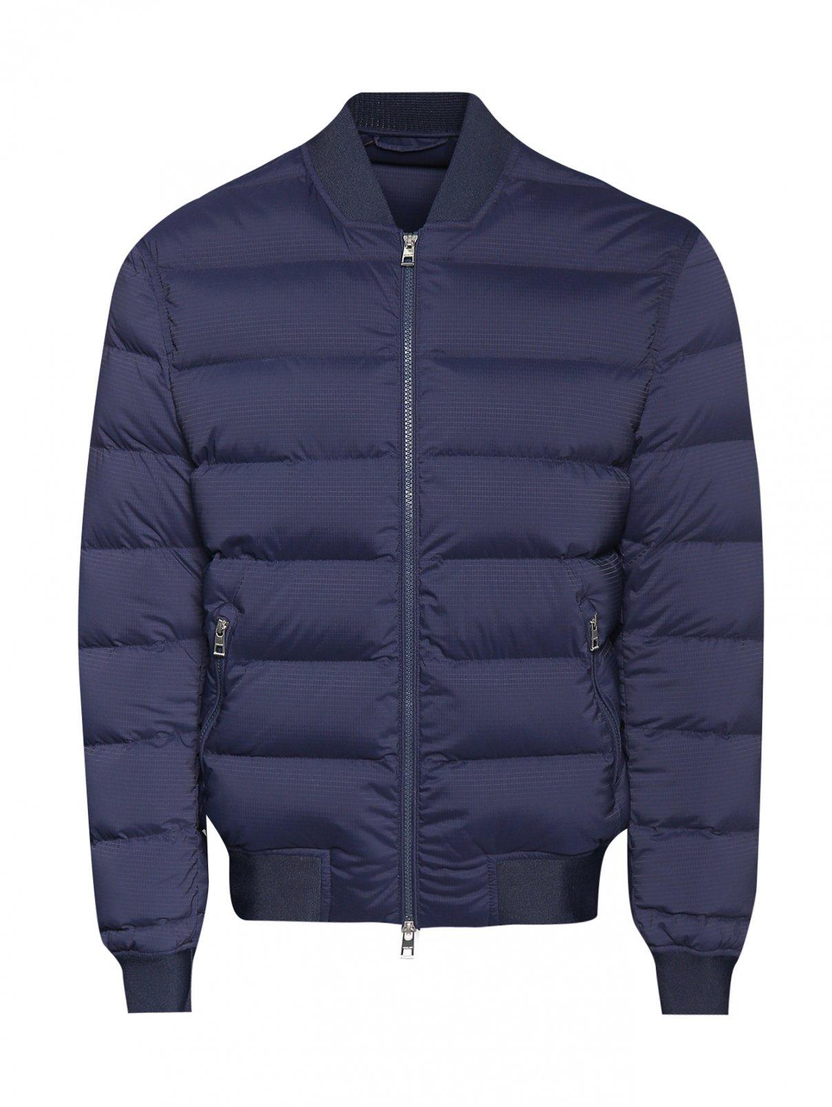 Куртка  стеганая на молнии Michael by Michael Kors  –  Общий вид  – Цвет:  Синий