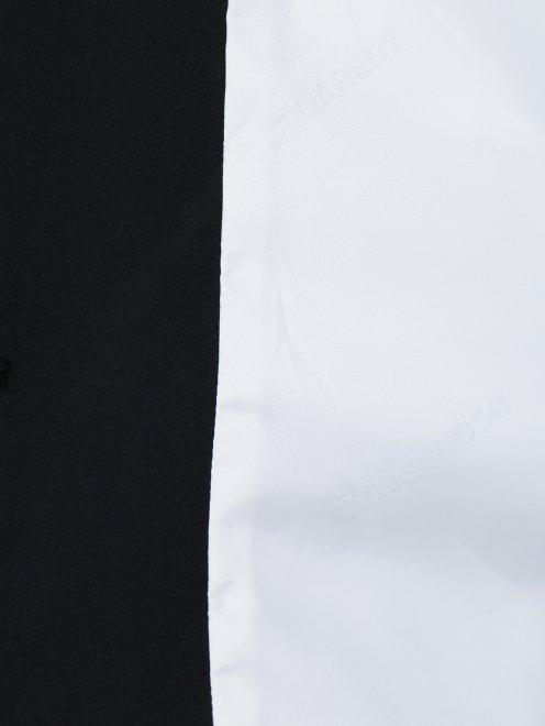 Жакет из шерсти и шелка с отложным воротником - Деталь2