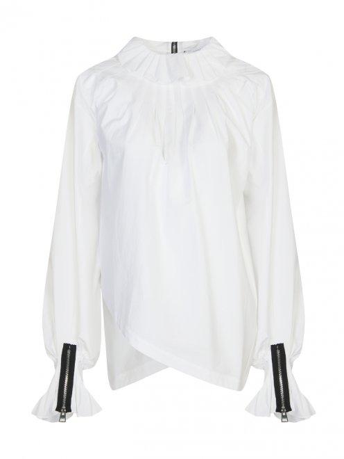 Блуза из хлопка с драпировкой - Общий вид