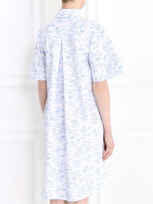 Платье-мини с коротким рукавом - Модель Верх-Низ1