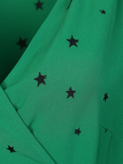 Платье на запах с узором звезды - Деталь1