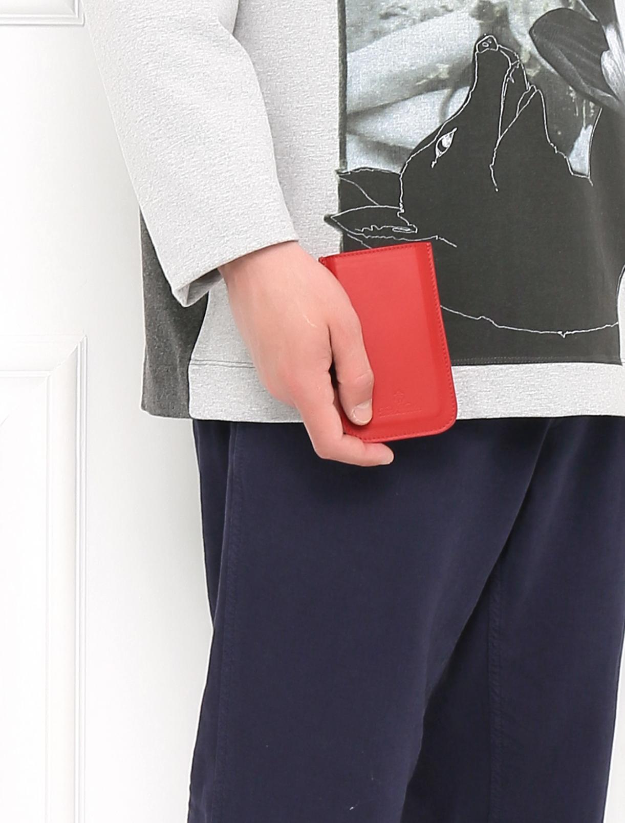 Чехол для Samsung из кожи Brooks Brothers  –  Модель Общий вид  – Цвет:  Красный