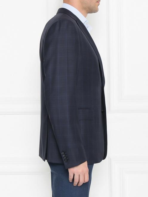 Пиджак из шерсти с узором - МодельВерхНиз2