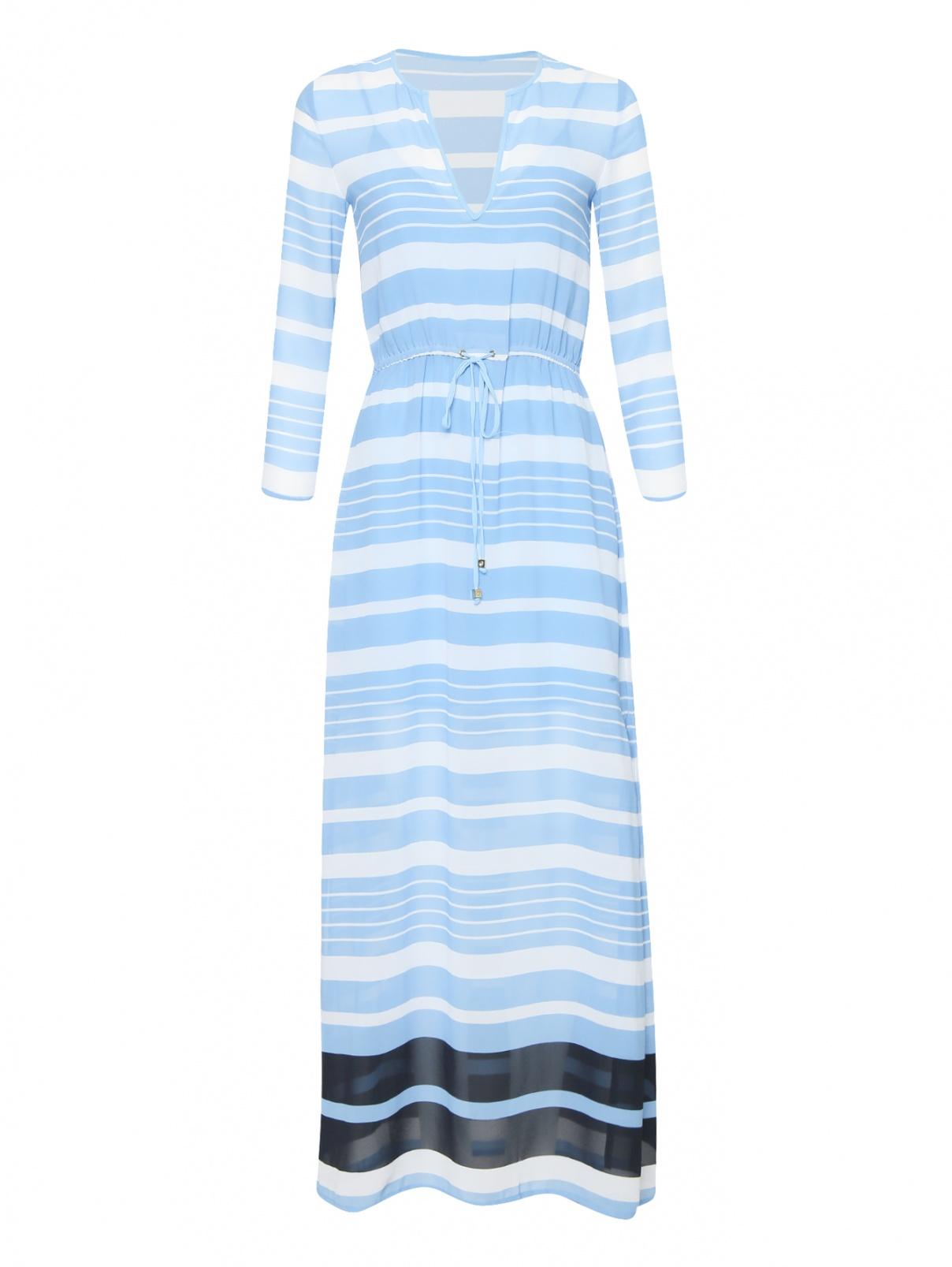 Платье-макси с узором в полоску Michael by Michael Kors  –  Общий вид