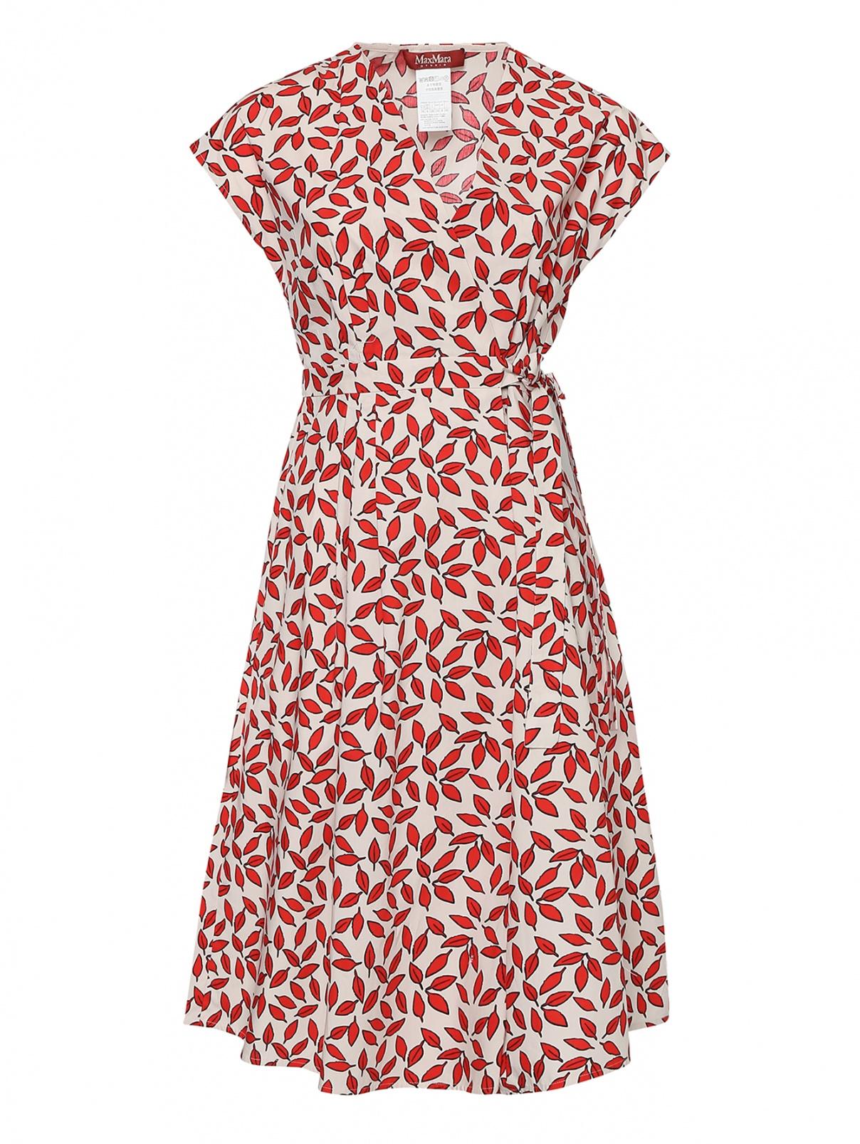 Платье из хлопка, со складками на талии Max Mara  –  Общий вид