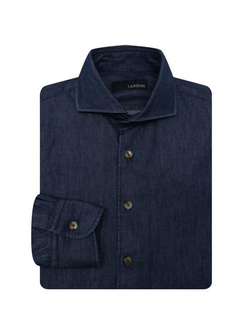 Джинсовая рубашка из хлопка  - Общий вид