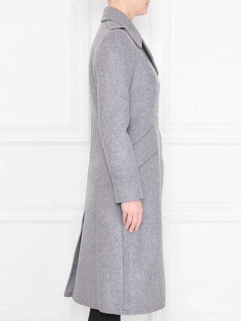 Пальто двубортное, из шерсти - МодельВерхНиз2