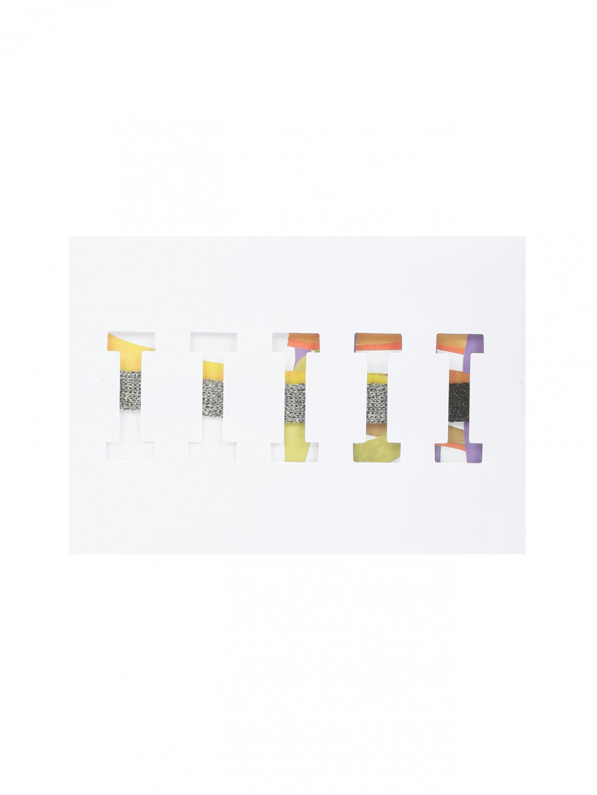 Браслет из текстиля с контрастной отделкой ICEBERG  –  Общий вид  – Цвет:  Мультиколор