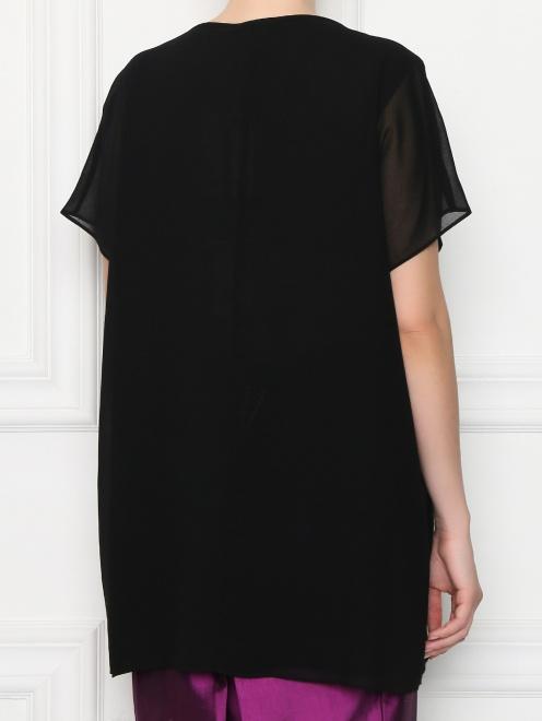 Блуза свободного кроя декорированная стразами  - МодельВерхНиз1