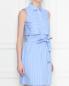 Платье из хлопка в полоску Brooks Brothers  –  МодельВерхНиз